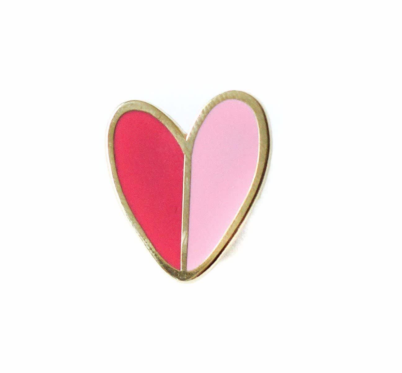 Mod Heart Enamel Pin Typo Market